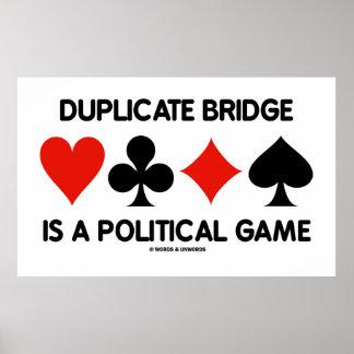 A ponte duplicada é um jogo político os ternos do pôsteres