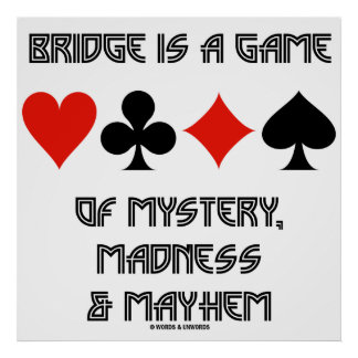 A ponte é um jogo da loucura e do desordem do mist pôster