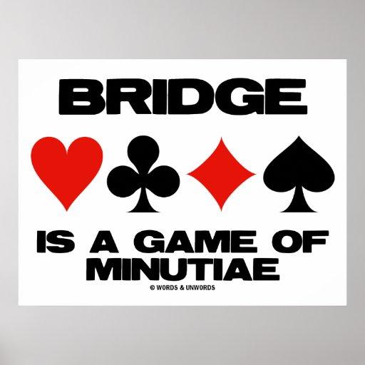 A ponte é um jogo das minúcias (quatro ternos do c pôsteres