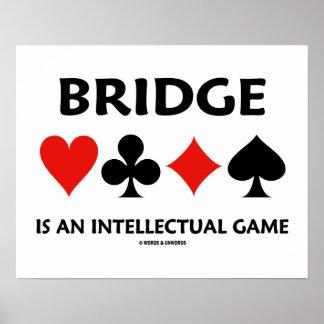 A ponte é um jogo intelectual (quatro ternos do pôster