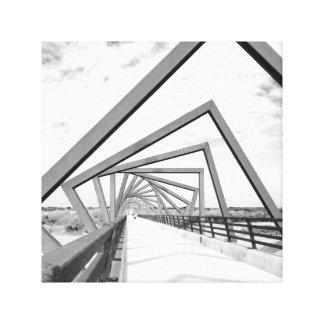 A ponte impressão em tela