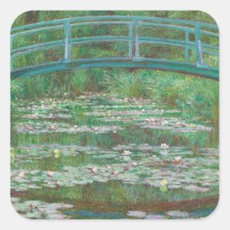 A ponte japonesa Claude Monet Adesivo Quadrado