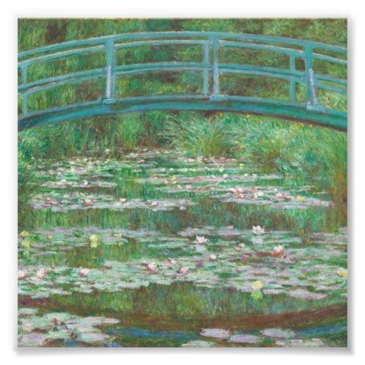 A ponte japonesa Claude Monet Impressão De Foto