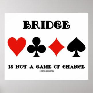 A ponte não é um jogo de azar (quatro ternos do ca posteres