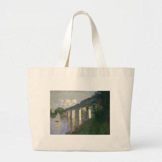 A ponte Railway em Argenteuil (1874) Bolsa Para Compras