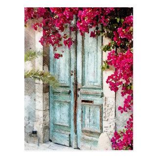 A porta da casa de campo cartão postal