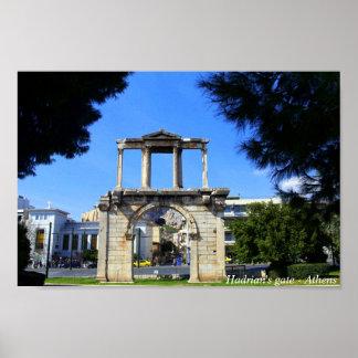 A porta de Hadrian - Atenas Impressão