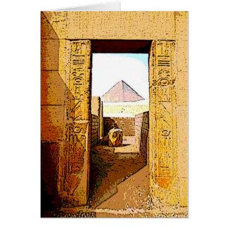 A porta do Pharaoh - cartão