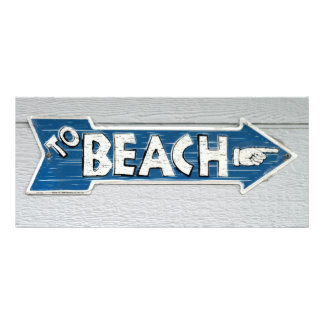 À praia 10.16 x 22.86cm panfleto