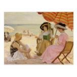 A praia, 1929 cartão postal