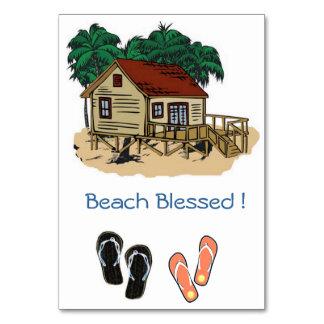 A praia abençoada convida