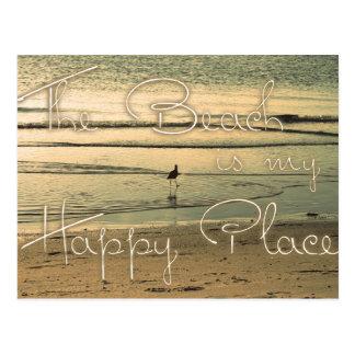 A praia é meu lugar feliz cartão postal