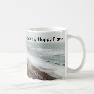A praia é minha caneca feliz do lugar