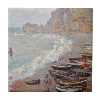 A praia em Etretat - Claude Monet