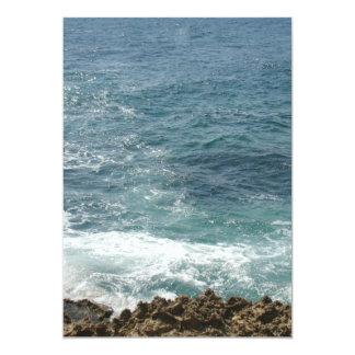 A praia encontra o oceano convite 12.7 x 17.78cm