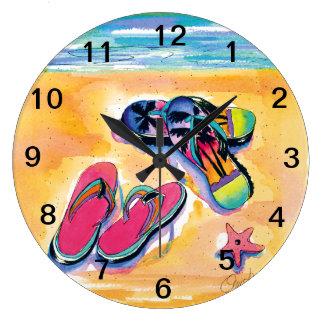 A praia Flip-flops o pulso de disparo de parede Relógios De Paredes