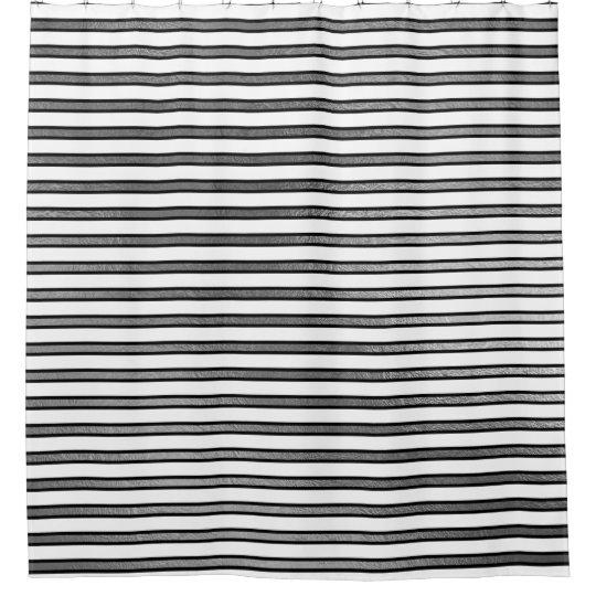 A prata branca preta elegante listra as linhas cortinas para chuveiro