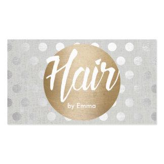A prata do círculo do ouro do cabeleireiro cartão de visita