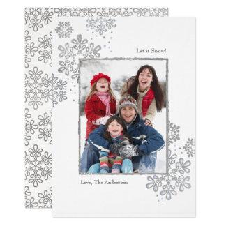 A prata do falso deixou-o nevar! Cartão de Natal