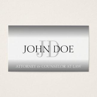 A prata do monograma da empresa de advocacia do cartão de visitas