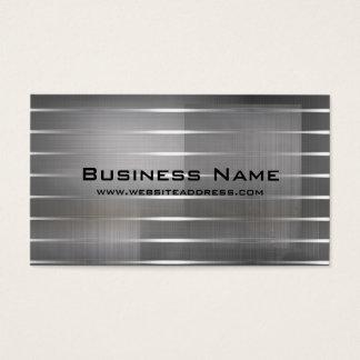 A prata moderna listra cartões de visitas