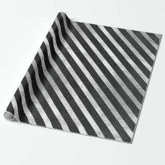A prata preta de papel elegante do Vip listra Papel De Presente