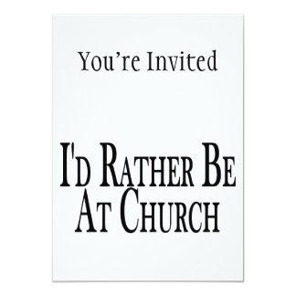 A preferencialmente esteja na igreja convite 12.7 x 17.78cm