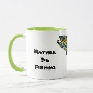 A preferencialmente esteja pescando a caneca de