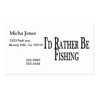 A preferencialmente esteja pescando cartão de visita