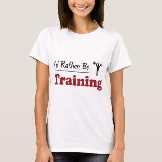 A preferencialmente esteja treinando camiseta