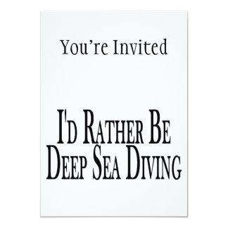 A preferencialmente seja mergulho do mar profundo convite 12.7 x 17.78cm