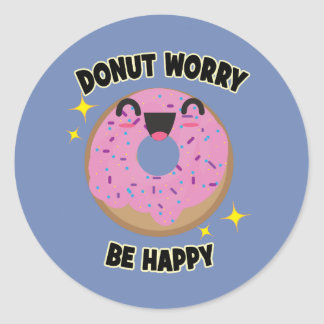 A preocupação da rosquinha seja etiquetas felizes