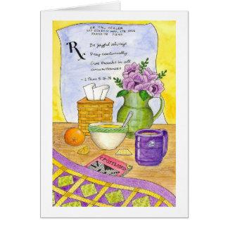 A prescrição para o bem-estar obtem o cartão bom