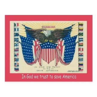 A Primeira Guerra Mundial,    propaganda, no deus Cartão Postal