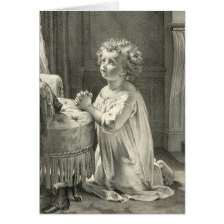 A primeira oração da criança cartoes