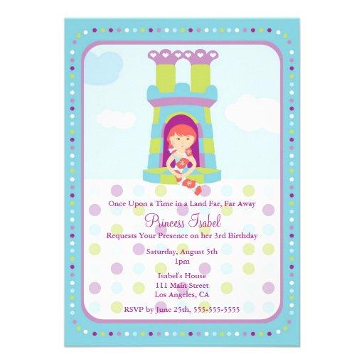 A princesa bonito festa de aniversário de Rapunzel Convite