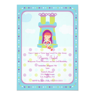 A princesa bonito festa de aniversário de Rapunzel Convite 12.7 X 17.78cm