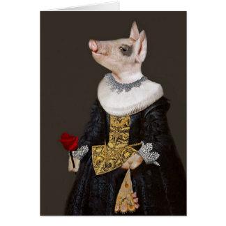A princesa de Bling - leitão antropomórfico Cartão Comemorativo