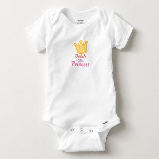 A princesa pequena Bebê Camisa de Dada