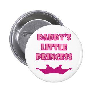 A princesa pequena do pai bóton redondo 5.08cm