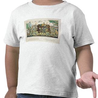 A procissão do caçador, c.1850 (mão colorida leve t-shirt