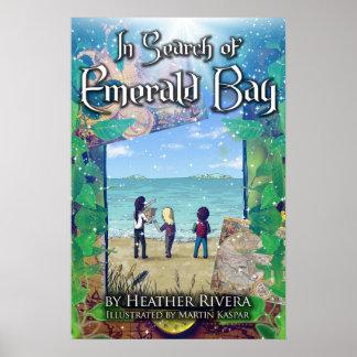 À procura do poster esmeralda da capa do livro da