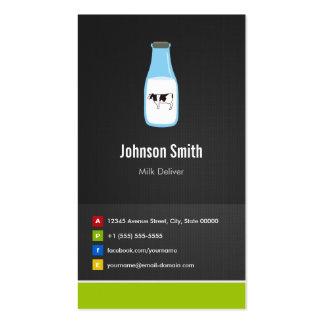 A produção de leite entrega - inovativo criativo cartão de visita