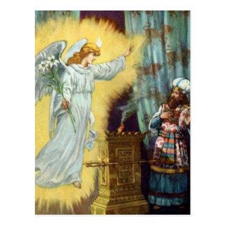 A promessa do deus a Zacharias Cartão Postal