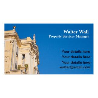 A propriedade presta serviços de manutenção ao car cartões de visitas