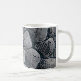 A protuberância da caneca de café de carvão