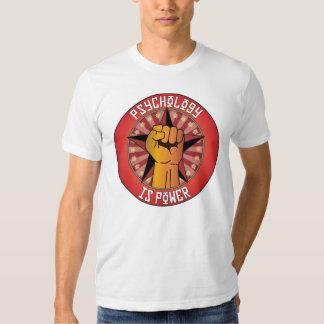 A psicologia é poder camisetas