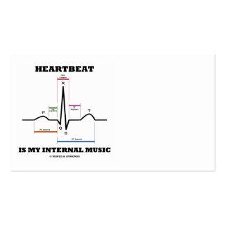 A pulsação do coração é minha música interna (o cartão de visita