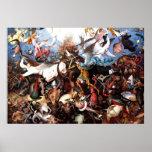 "A queda de Pieter Bruegel ""dos anjos rebelde "" Poster"