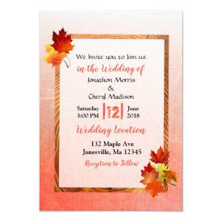A queda deixa convites do casamento do outono